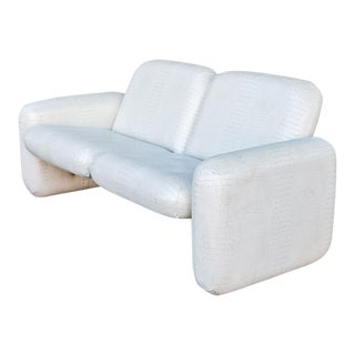 Ray Wilkes for Herman Miller White Vinyl Chiclet Sofa
