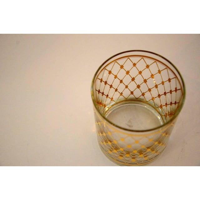 "Set of Four Georges Briard ""Harlequin"" Pattern Double Old Fashioned Glasses - Image 2 of 4"