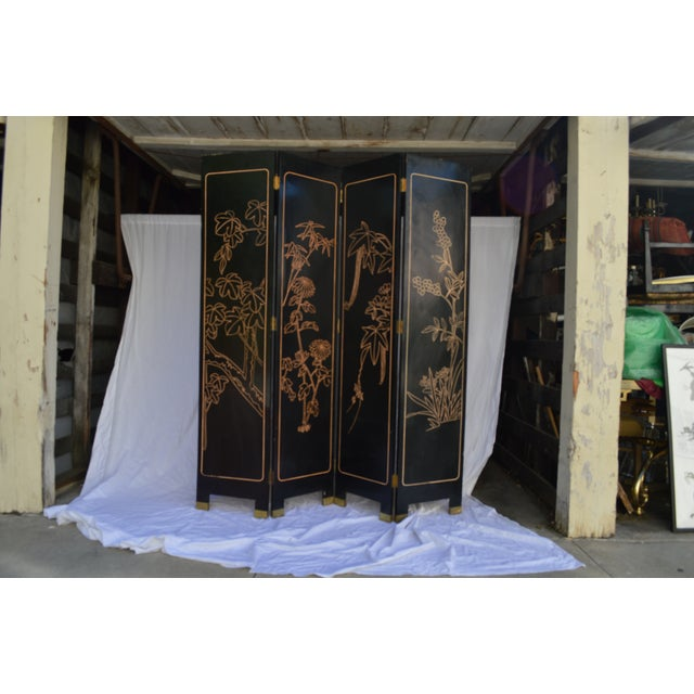 1960s Japanese 4 Panel Screen - Image 5 of 8