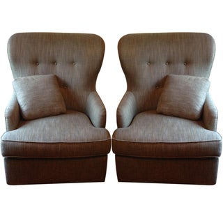 Bernhardt Brenton Swivel Chairs- A Pair