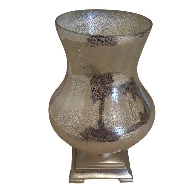 gold mercury glass hurricane lamp chairish. Black Bedroom Furniture Sets. Home Design Ideas