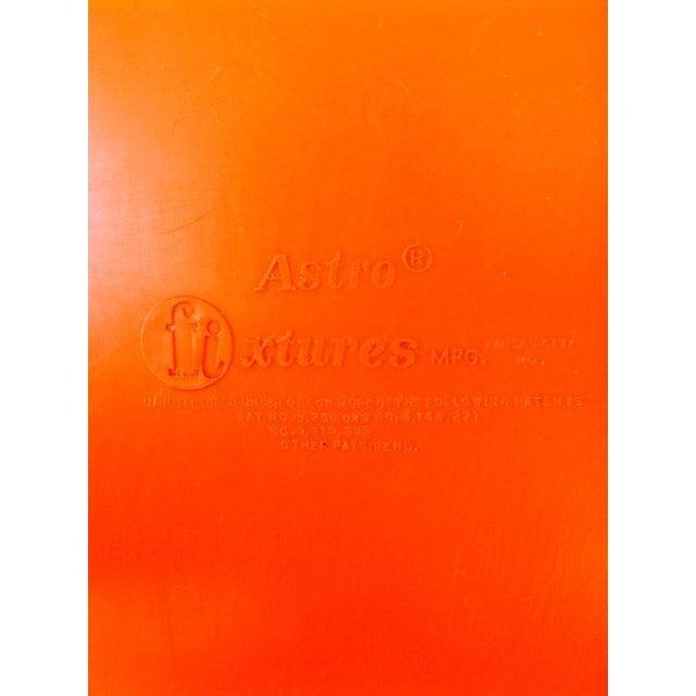 Orange Astro Furnishings Shell Chair - Image 5 of 5