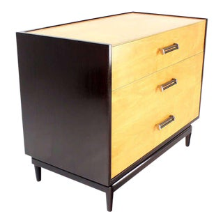 Two-Tone, Mid-Century Modern Bachelor Chest Dresser with Three Drawers