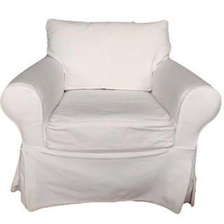 Pottery Barn White Slipcover Armchair