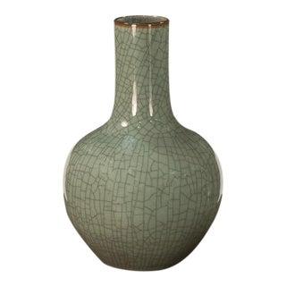 Sarried Ltd Celadon With Brown Lip Globular Vase