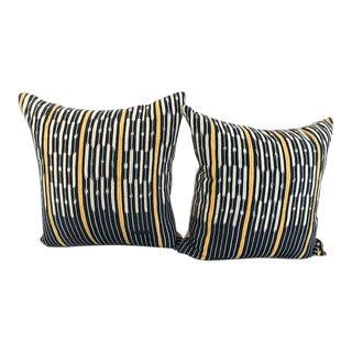 Vintage African Indigo Pillows - A Pair