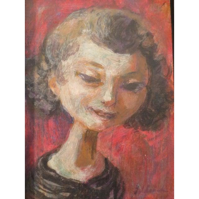 Image of Edward Goldman Vintage Portrait Painting