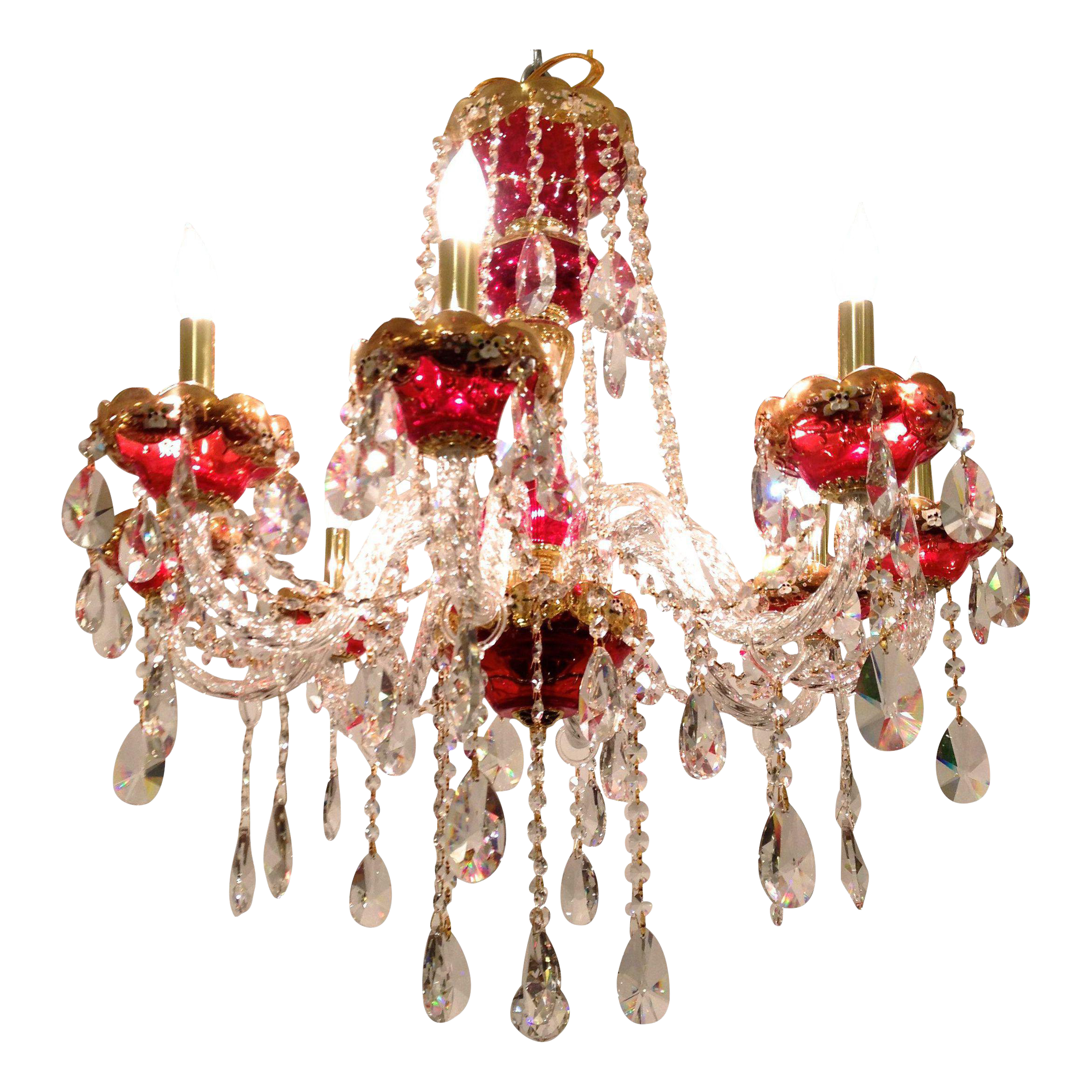 Image of Red Crystal Chandelier