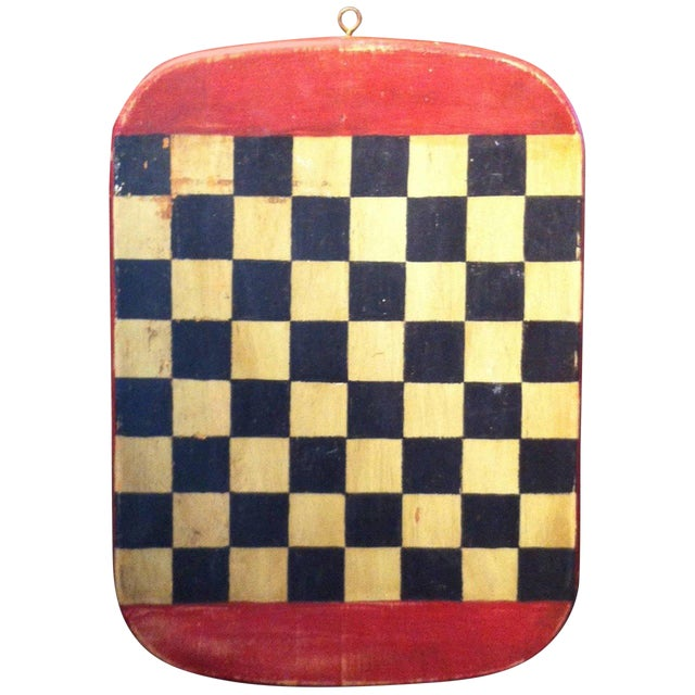 Image of Folky Early 20th Century Original Painted Gameboard