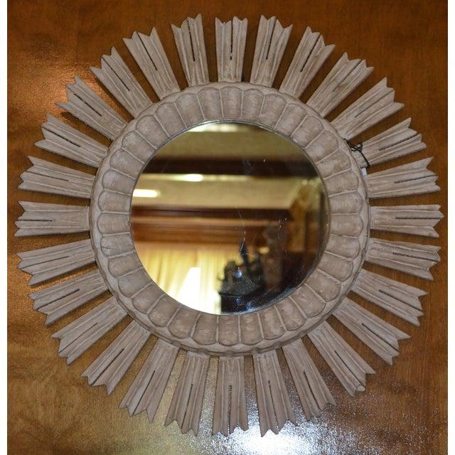 Arteriors Home Hand Carved Sunburst Mirror - Image 7 of 8