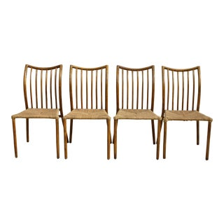 Vintage Rush Seat Dining Chairs - Set of 4