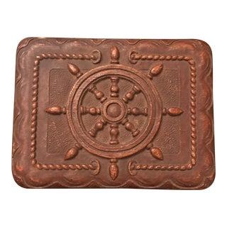 Brown Nautical Ship Wheel Box