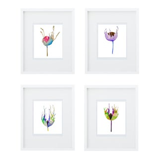 Steve Klinkel Botanical Giclee Prints- Set of 4