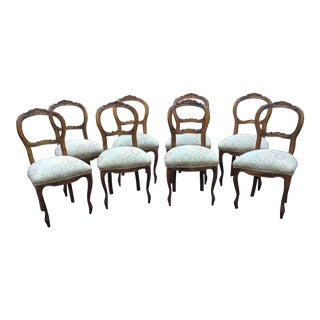 Antique Ballon Back Chairs - Set of 8