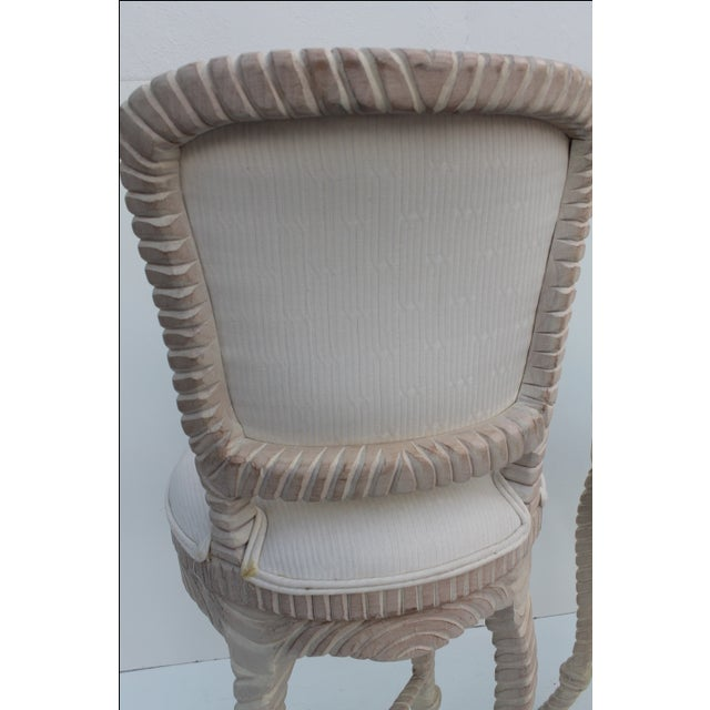 Italian Carved Rope & Tassel Bar Stools -- A Pair - Image 4 of 11