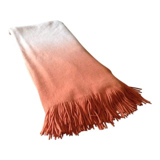 West Elm Orange Ombré Throw