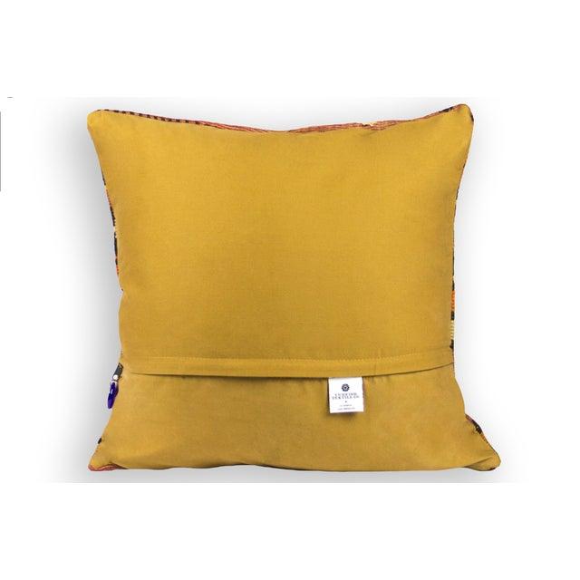 """Image of Orange Turkish 20"""" Kilim Pillow"""