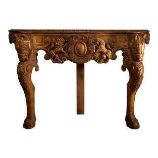 Hand Carved Horse Console