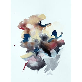 "Ellen Sherman ""Color Study 6"" Watercolor Painting"