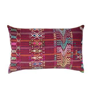 Vintage Guatemalan Red & Pink Striped Pillow