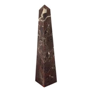 Dark Wine Marble Obelisk