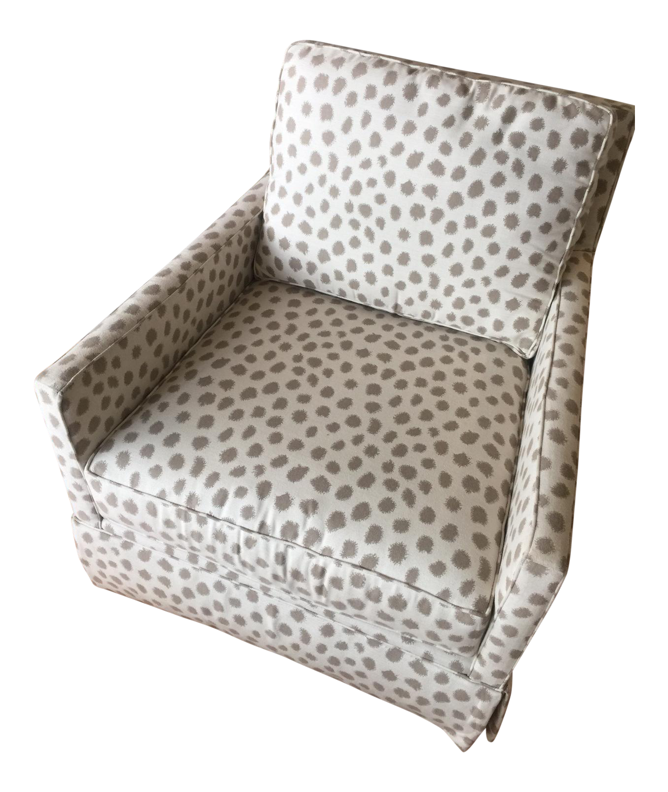 miles talbott dotted swivel accent chair