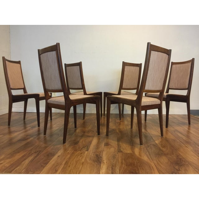 Karl Erik Ekselius for JOC Rosewood Dining Chairs- Set of 6 - Image 5 of 7
