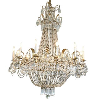19th Century Italian Empire Crystal Chandelier
