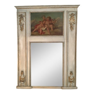 French Cherub Trumeau Mirror