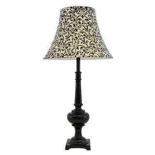 Vintage Lamp in Glossy Black Luxury Auto Enamel