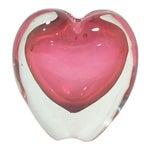 Murano Pink Heart Vase Paper Weight