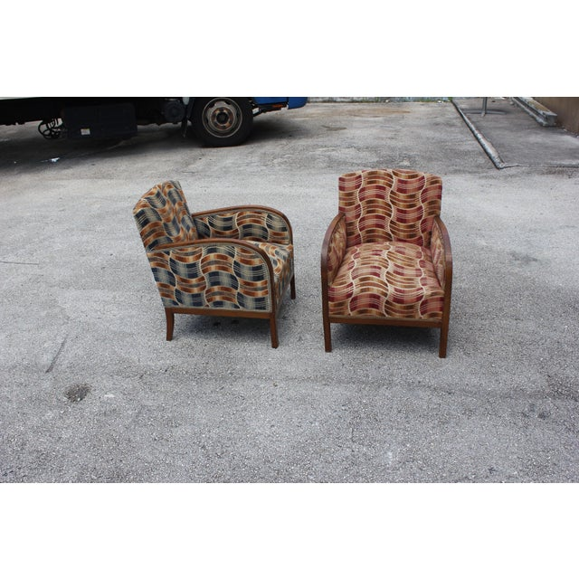 French Art Deco Sold Mahogany Speed Armchairs - A Pair - Image 5 of 11