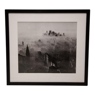"New York Times Archives Framed Fine Art Photography, ""Smog Covered Skyline"""