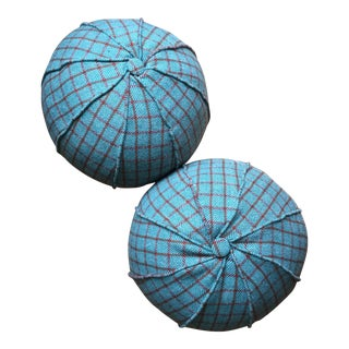 Round Holland & Sherry Wool & Down Feather Pillows- A Pair