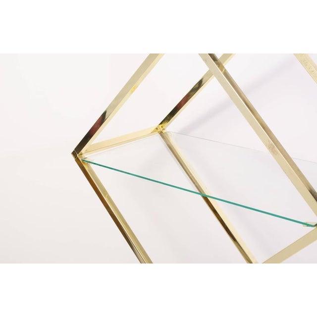 Brass Diamond Sculptural Etagere - Image 2 of 4