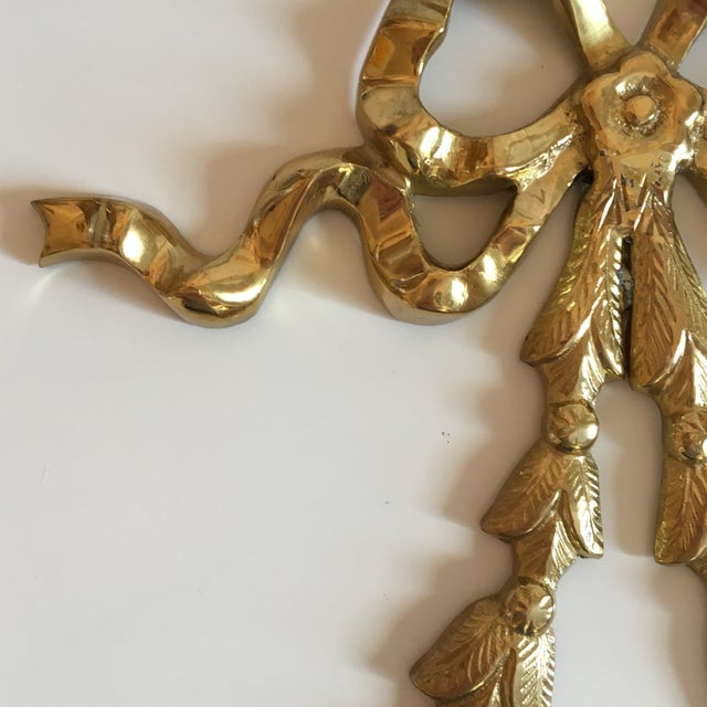 Brass Ribbon Wall Hangings - A Pair - Image 5 of 9