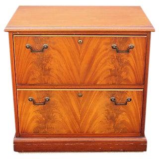 Veneered Wood File Cabinet