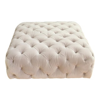 Velvet tufted Ottoman Coffee Table