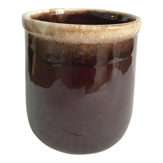 Vintage McCoy Brown Drip-Glaze Pottery Canister