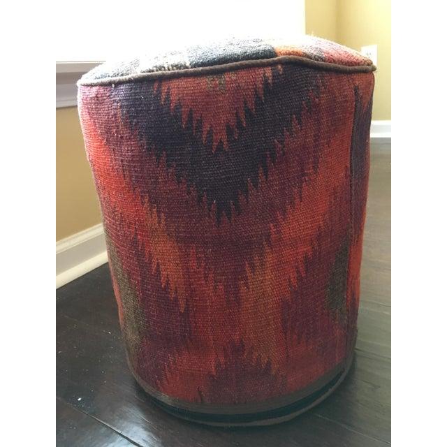 Image of Vintage Turkish Kilim Rug Ottoman