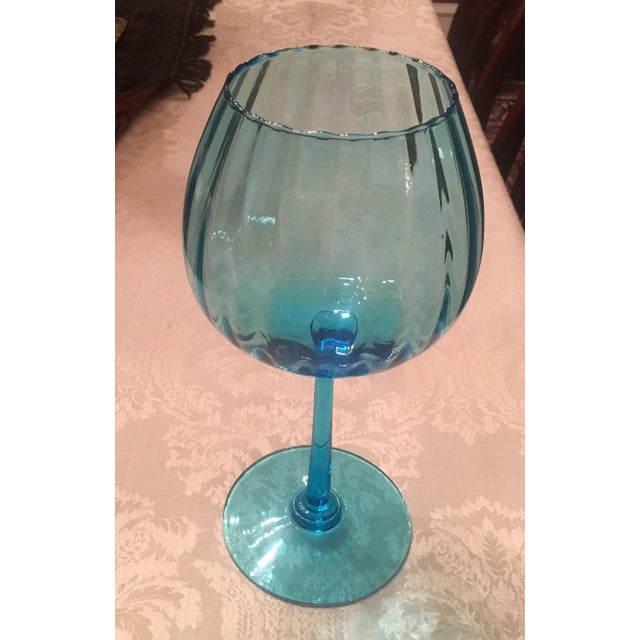Turquoise Glass Candle Holder - Image 3 of 7