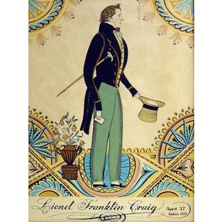 Lithograph of Regency Era Gentleman