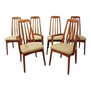 Set of 6 Mid-Century Danish Modern Hornslet-Style Teak Dining Chairs