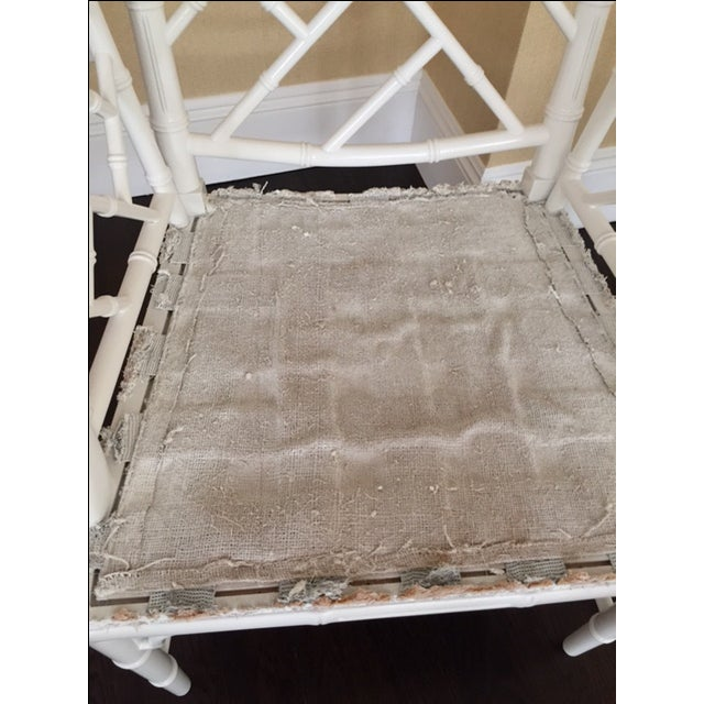 Chippendale Faux Bamboo Chairs - A Pair - Image 4 of 6