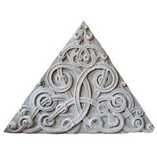 Monumental Carved Limestone Pediment