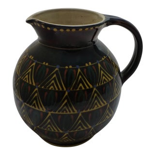 Large Mid-Century Italian Pottery Pitcher