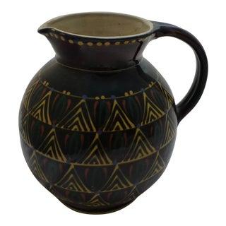 Large Mid-Century Italian Pottery Pitcher