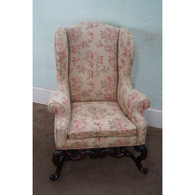 Spanish Renaissance Style Wing Chair - Image 2 of 7