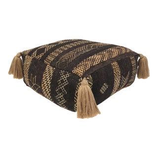 Vintage Black Moroccan Pouf