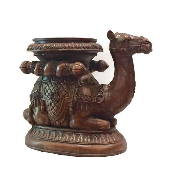 Moroccan camel end table or garden stool chairish for Garden stool side table